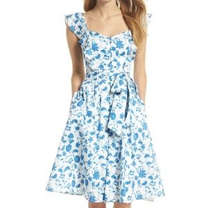 NWT Gal Meets Glam Olivia Floral Fit n Flare Dress